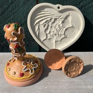 Vintage | set of four fun cookie stamps